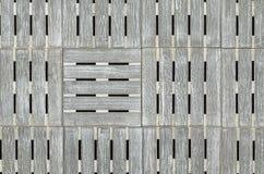 Fundo quadrado de madeira cinzento Fotos de Stock