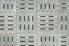 Fundo quadrado de madeira cinzento Imagens de Stock