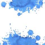 Fundo quadrado de pontos do azul do absrtract da aquarela ilustração do vetor