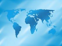 Fundo quadrado do mapa de mundo ilustração stock