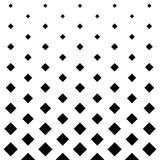 Fundo quadrado do projeto do teste padrão em preto e branco Fotografia de Stock