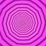 Fundo quadrado geométrico criativo cor-de-rosa com teste padrão poligonal Contexto com efeito de giro psicadélico, túnel ou ilustração stock