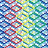 Fundo quadrado isométrico colorido futurista Foto de Stock Royalty Free