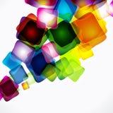 Fundo quadrado Multicolor ilustração stock