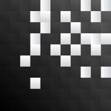 Fundo quadrado preto e branco do teste padrão ilustração royalty free