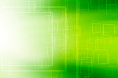 Fundo quadrado verde abstrato da tecnologia Imagem de Stock Royalty Free