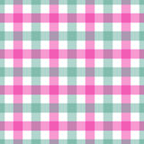 Fundo quadriculado colorido cor-de-rosa e verde sem emenda de pano de tabela Foto de Stock Royalty Free