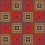 Fundo quadriculado com quadrados coloridos Fotografia de Stock