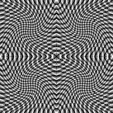 Fundo quadriculado da ilusão monocromática do projeto Fotos de Stock Royalty Free