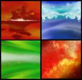 Fundo quatro coloridos Foto de Stock Royalty Free