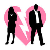 Fundo quebrado divórcio dos pares Foto de Stock
