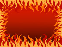 Fundo quente do fogo no borad Fotografia de Stock