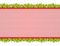 Fundo rústico 2 da folha do azevinho do Natal Foto de Stock Royalty Free