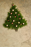 Fundo rústico da árvore de Natal do cedro Imagens de Stock
