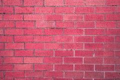 Fundo rústico vermelho da textura do bloco do tijolo do vintage Imagem de Stock