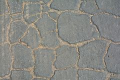 Fundo rachado cinzento do asfalto Fotos de Stock Royalty Free