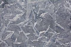 Fundo rachado da textura do gelo natural Imagens de Stock Royalty Free