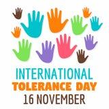 Fundo racial do conceito do dia da tolerância, estilo liso ilustração royalty free