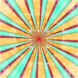 Fundo radial abstrato da explosão do sol Luz colorida do estilo retro dissipada atrás Ilustração do vetor Eps 10 Foto de Stock Royalty Free
