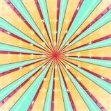 Fundo radial abstrato da explosão do sol Luz colorida do estilo retro dissipada atrás Ilustração do vetor Eps 10 Fotografia de Stock Royalty Free