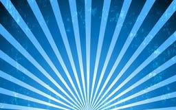 Fundo radial azul do estilo do vintage do vetor Fotos de Stock Royalty Free