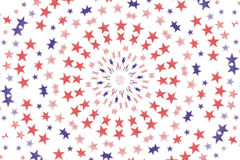 Fundo radial do papel de parede das estrelas Foto de Stock Royalty Free