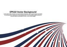 Fundo radial vermelho e azul do vetor das tiras Imagem de Stock Royalty Free