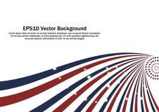 Fundo radial vermelho e azul patriótico das tiras Foto de Stock Royalty Free