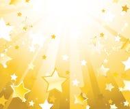 Fundo radiante com estrelas Imagens de Stock