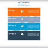 Fundo rasgado de Infographic do papel Fotografia de Stock