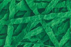 Fundo rasgado e amarrotado do papel verde Foto de Stock