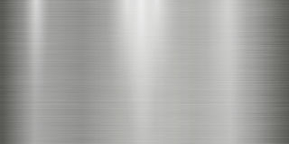 Fundo realístico da textura do metal com luzes, sombras e scraths no matiz cinzento Foto de Stock Royalty Free