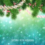 Fundo realístico do Natal Fotos de Stock Royalty Free