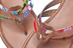 Fundo recicl das sandálias Imagens de Stock Royalty Free