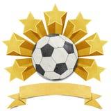 Fundo recicl do papercraft da estrela de futebol Imagens de Stock