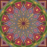 Fundo redondo étnico geométrico decorativo Imagens de Stock