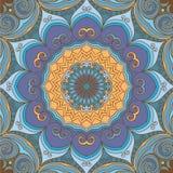 Fundo redondo azul-amarelo decorativo Imagens de Stock Royalty Free
