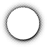 Fundo redondo branco com teste padrão pontilhado do preto Fotografia de Stock