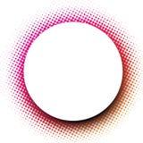 Fundo redondo branco com teste padrão pontilhado do rosa Imagem de Stock Royalty Free