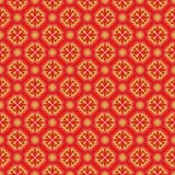 Fundo redondo do teste padrão de flor do diamante chinês sem emenda dourado do vintage Imagem de Stock