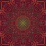 Fundo redondo verde-vermelho decorativo Imagens de Stock Royalty Free