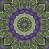 Fundo redondo verde-violeta decorativo Fotos de Stock