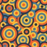 Fundo repetitivo sem emenda da textura do teste padrão do vetor dos círculos coloridos ilustração stock