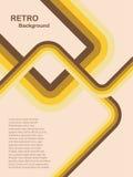 Fundo retro abstrato amarelo Imagens de Stock
