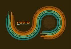 Fundo retro abstrato do disco -. ilustração stock