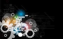 Fundo retro abstrato do negócio da informática digital ilustração do vetor