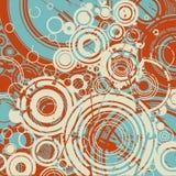 Fundo retro abstrato dos círculos ilustração royalty free