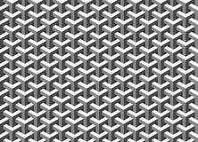 Fundo retro abstrato - o grayscale isométrico dá forma no vetor Fotografia de Stock
