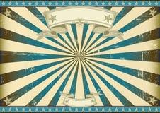 Fundo retro azul do raio de sol Imagens de Stock Royalty Free
