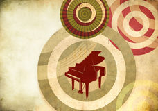 Fundo retro com piano grande Foto de Stock Royalty Free
